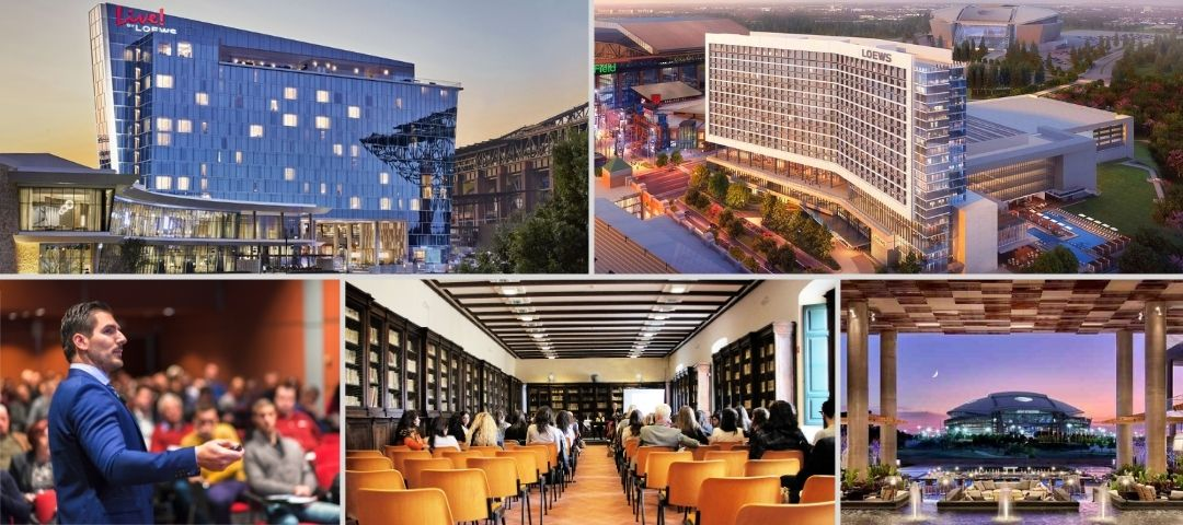 Top 20 North Arlington Convention and Conference Center Meeting Spaces near the Arlington Entertainment District. Small to Large.