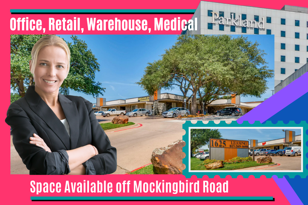 Commercial Spaces for Lease at the Mockingbird Mall Business Complex located on Mockingbird Lane in Dallas Texas