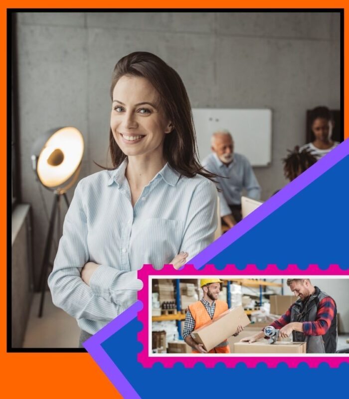 Smiling Woman in an office Flex Space?
