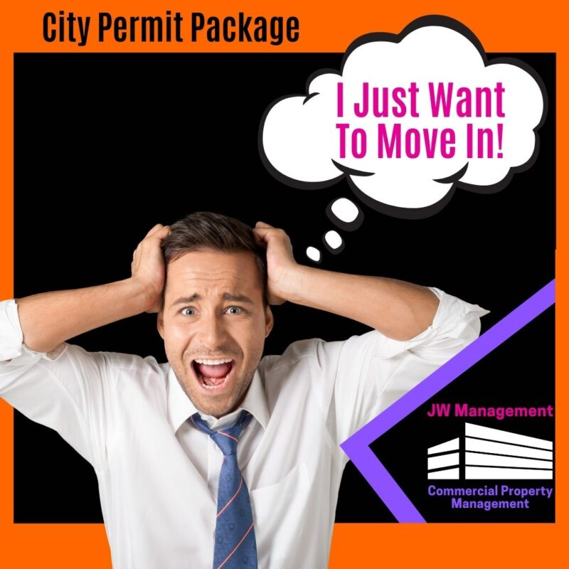 Stressed out business man learning about the learning about the Dallas & North Arlington City permit package requirements